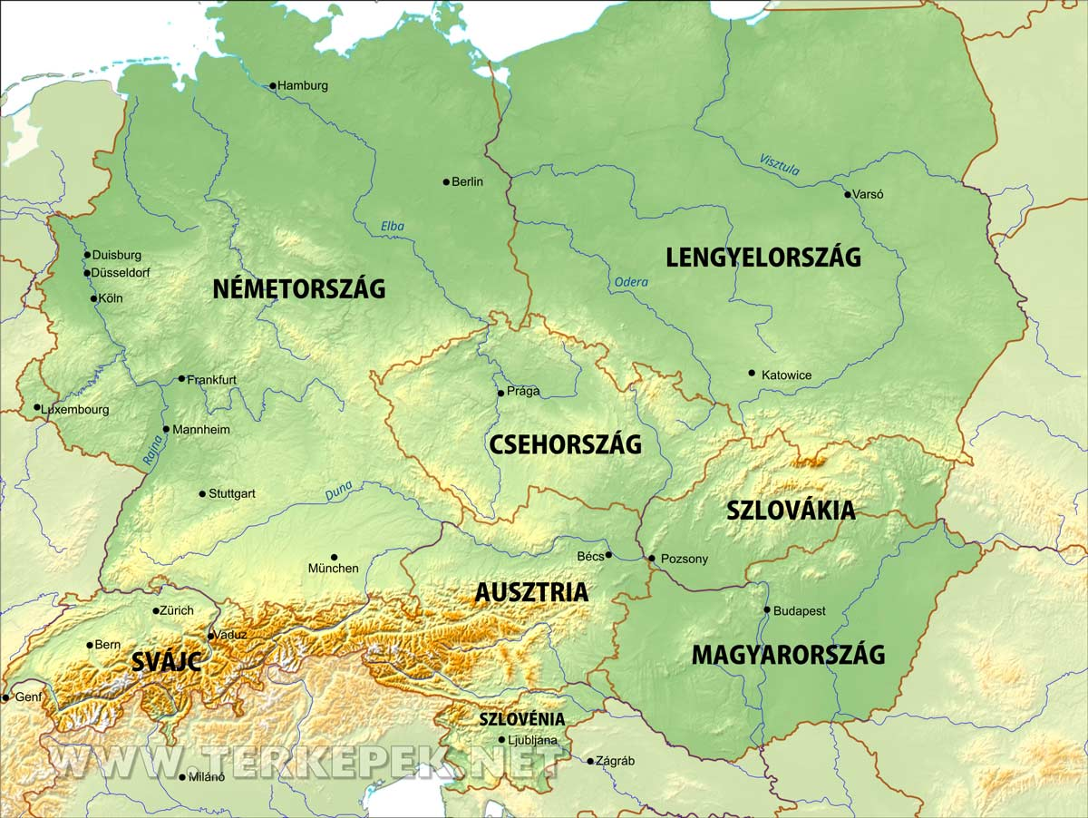 dél európa térkép Közép Európa térképe dél európa térkép