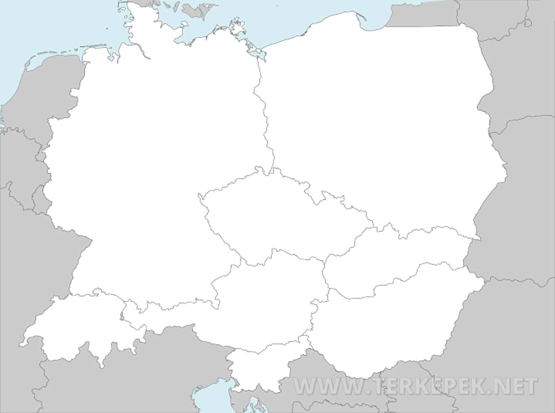 közép európa térkép Közép Európa térképe közép európa térkép
